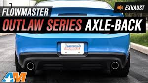 2013 mustang gt flowmaster exhaust 2011 2013 mustang gt gt500 flowmaster outlaw series axle back