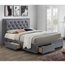 Grey Upholstered Ottoman Bed Birlea Woodbury King Upholstered Grey Ottoman Bed Bedroom