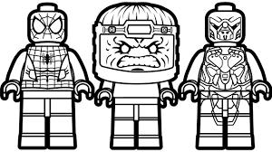 lego spiderman vs lego modok vs lego alien foot soldier coloring