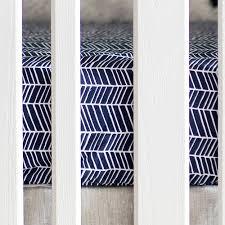 navy herringbone crib sheet baby navy sheet boy crib sheets