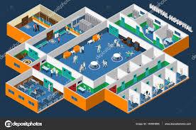 mental hospital isometric interior u2014 stock vector macrovector