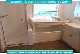 Bath Changing Table Baby Bath Change Table Sits Your Bath
