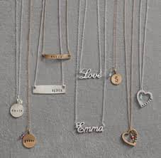 personalized charm necklaces personalized charm necklace sterling silver