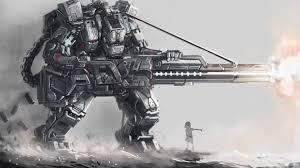 full hd wallpaper robot cannon shooting desktop