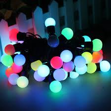5m 16 feet 50 balls color changing led rgb ball string christmas
