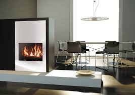 gas fireplace contemporary closed hearth floor mounted