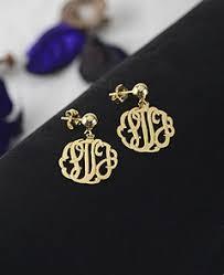 Gold Monogram Earrings Gold Monogram Earrings