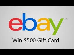 500 gift card win a 500 ebay gift card