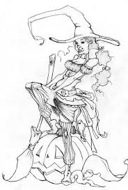 Halloween Witch Coloring Page by