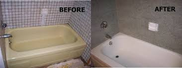 Bathroom Tile Refinishing Kit - bathtub refinishing tough as tile bathroom design