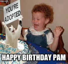 Pamela Meme - happy birthday pam happy birthday quickmeme parodies of my