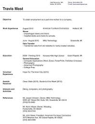 Example Of Simple Resume For Job Application by Resume Example For Jobs Resume Sample Nanny Nanny Resume Sample