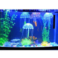 2018 blue small size jellyfish aquarium decorations lifelike