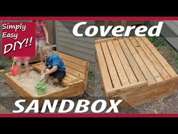 diy covered sandbox with bench seating youtube