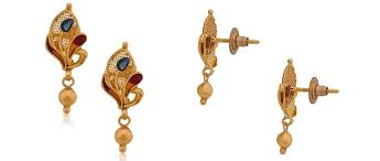 bengali gold earrings exclusive senco gold and diamonds store discountmantra