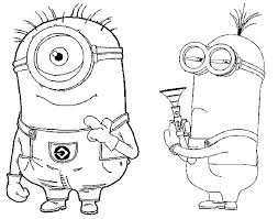 coloring pages minions drawing