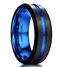 Tungsten Carbide Mens Wedding Rings by 7mm Unisex Or Men U0027s Wedding Band Mens Wedding Rings Black Matte