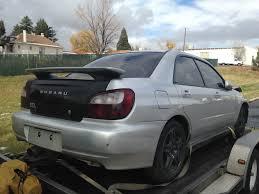 silver subaru impreza 2003 subaru wrx sedan silver 5 speed complete part out