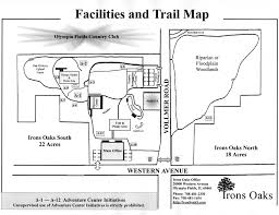 Oak Park Illinois Map by Park Rules U0026 Trail Map Irons Oaks Environmental Learning Center