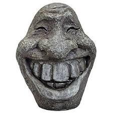 big smiley polyresin garden statue ornament for