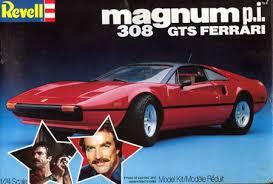 magnum pi year 308 gts magnum pi plastic model kit built