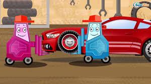 monster trucks races cartoon cars cars cartoons monster truck u0026 racing car vs police car heavy
