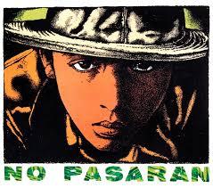 art for a change no pasaran a silkscreen poster by mark vallen