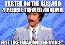 Fart Meme - silly bunt bus fart the voice meme