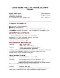 Samples Of Resumes For Jobs by Resume Format For Engineering Students Http Www Jobresume