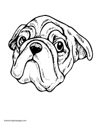 printable pug coloring pages interesting cliparts