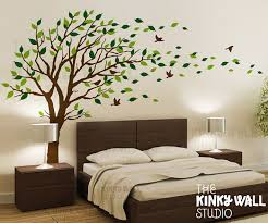 blowing tree wall decal bedroom wall decals wall sticker vinyl