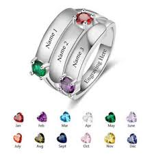 mothers rings images Personalized mothers ring 3 birthstone 3 name rings anniversary jpg
