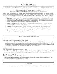 sample resume for home health aide nurse sample home health aide