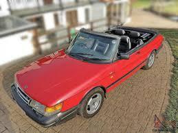 saab convertible red saab 900 convertible classic 67 000 miles 1992 lpt turbo auto