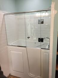 Glass Doors For Tub Shower Walk In Tub Shower Door Bay Glass Traverse City Michigan