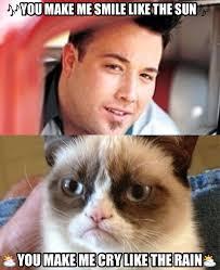 Meme Song - grumpy cat s depiction of the song smile grumpycat meme