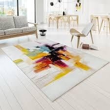 designer teppiche teppich bunt modern designer teppiche vegas leinwand optik multi