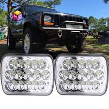 2018 jeep comanche overview my 2pc 5x7 7x6 sealed beam led headlight replacement for jeep