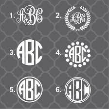 monogram decals simple monogram decals bad bass designs