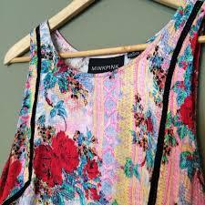 abstract pattern sleeveless dress minkpink dresses skirts mink pink rose abstract pattern shift