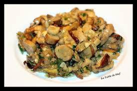 cuisiner des cepes frais poêlée de cèpes frais la table de stef