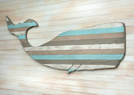 pallet whale wooden whale house decor nautical decor