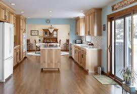 what paint color goes best with hickory cabinets hickory kitchen remodel in arlington heights