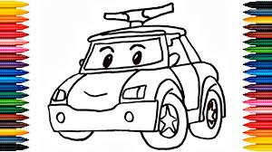 drawing car learn how to draw police car colors picture coloring