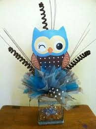 owl centerpieces owl centerpieces ready to ship baby shower party by