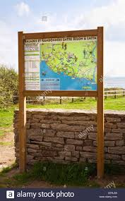 Brittany France Map Tourist Information Notice Board Brittany France Europe Stock