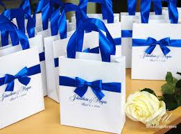 wedding gift bows wedding gift bags royal blue satin ribbon bow by weddingukraine