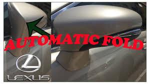 lexus is300 rear view mirror lexus automatic fold unfold side mirror youtube