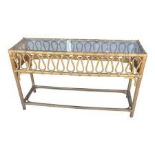 Rattan Console Table Vintage Used Console Tables Chairish