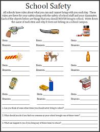 safety worksheets for kids worksheets